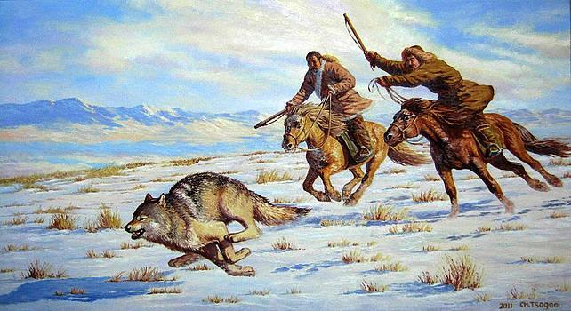 Hunting the wolf by Tsogbayar Chuluunbaatar