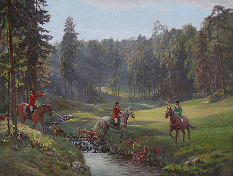 Hunting with hounds by Korobkin Anatoly