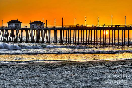 Huntington Beach Sunset by Jim Carrell