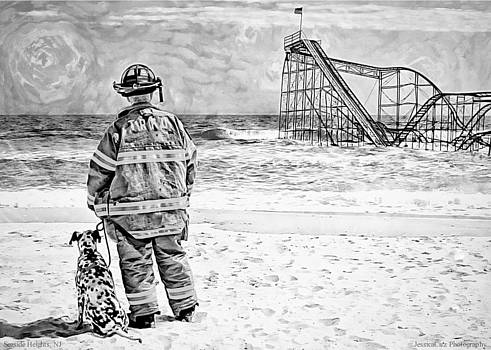 Hurricane Sandy black and white by Jessica Cirz