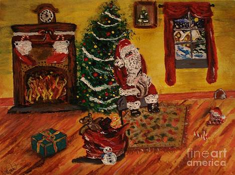 Hurry Up Santa by Lori  Lovetere