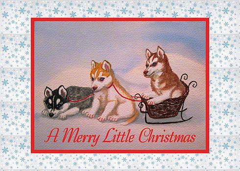 Ruth Soller - Husky Puppies card