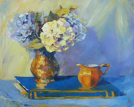 Hydrangeas by Azhir Fine Art