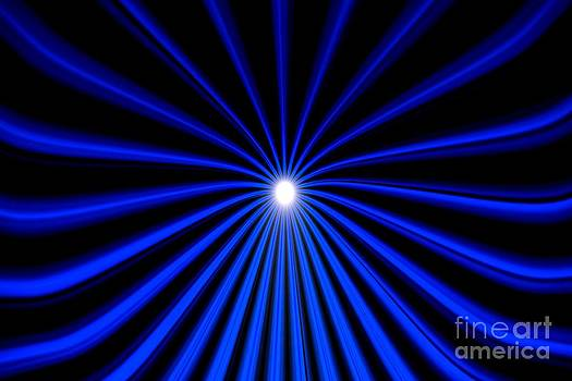 Hyperspace Blue Landscape by Pet Serrano