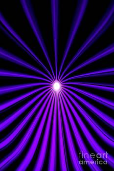Hyperspace Violet Portrait by Pet Serrano