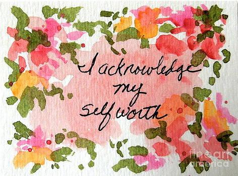 I Acknowledge my Self Worth Affirmation by Elizabeth Crabtree