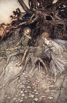 Arthur Rackham - I Am That Merry Wanderer Of The Night