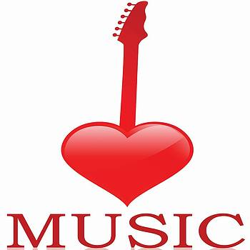 I Love Music Guitar by Anne Marie Baugh
