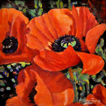 I Love Poppies No. 10 by Eileen  Fong