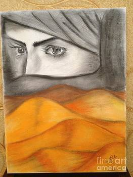 I love woman and desert by Alia Khaled