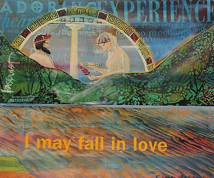 Beach Mountain Green Butterflies Basquiat Delphi Oracle Sky I May Fall In Love  by Cynthia Van Leeuwen