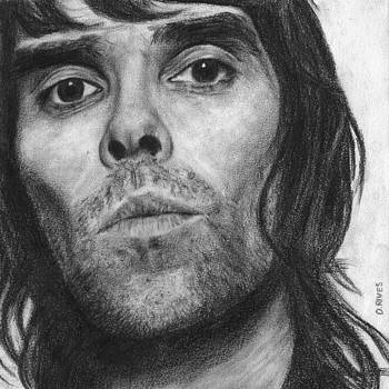 Ian Brown Pencil Drawing by David Rives