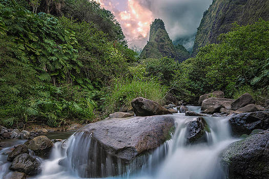 Iao Needle Sunset by Hawaii  Fine Art Photography