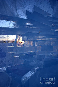 Ice abstract by Rosemary Calvert