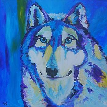 Ice Blue Husky by Veronica Silliman