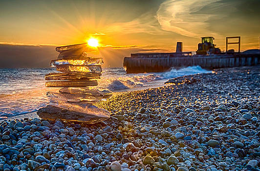 Ice Candle - Lake Michigan - North of Chicago VI by Michael  Bennett