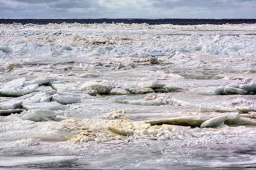 Ice Chunks Holland Michigan by Jenny Ellen Photography
