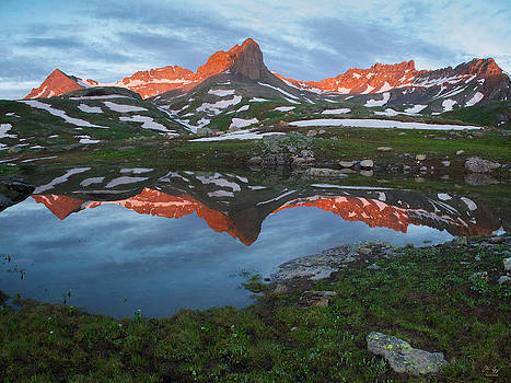 Ice Lakes Alpenglow by Aaron Spong