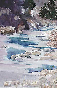 Ice On Big Thompson by Marcy Silverstein