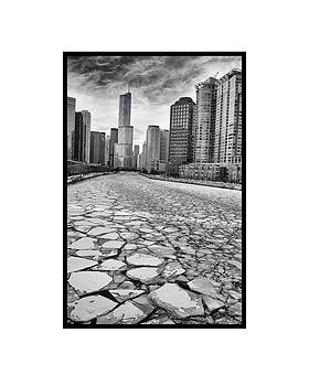 Ice On The Chicago River by Kyle V Smith