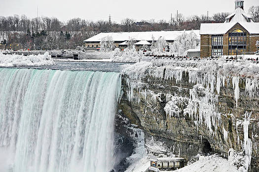 Simply  Photos - Icicles over the falls