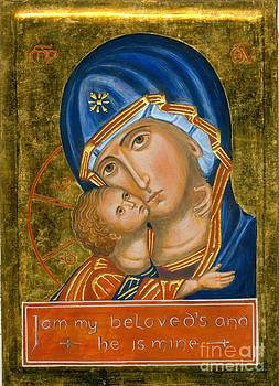 Icon of Our Lady of Vladimir by Juliet Venter Icons Illuminations