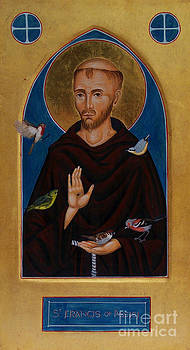 Icon of St Francis of Assisi  by Juliet Venter Icons Illuminations