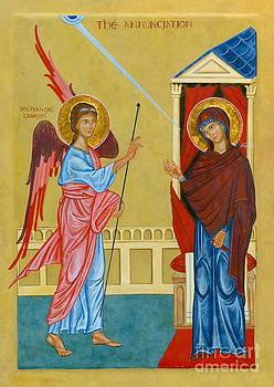 Icon of the Annunciation by Juliet Venter Icons Illuminations