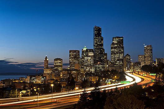 Iconic Seattle Skyline by Mark Rainer