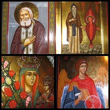 Iconic St. Serfim by Natalia Aglitskaya