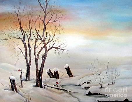 Icy Dawn by Anna-maria Dickinson