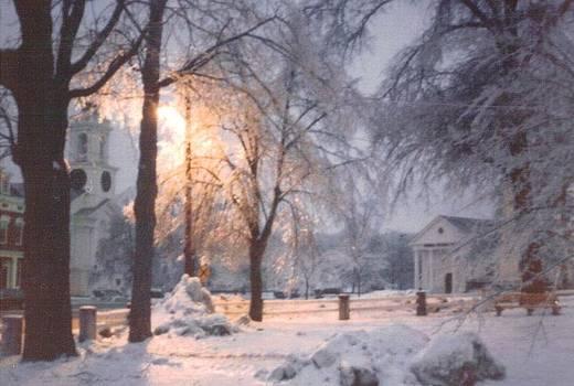 Icy Grafton MA common by Debbie Wassmann