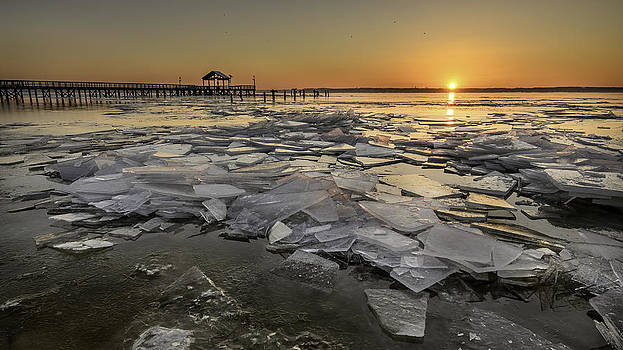 Icy Sunrise by Michael Donahue