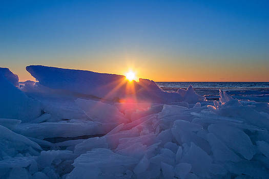 Icy Sunset in Halmstad by Kenneth Forland