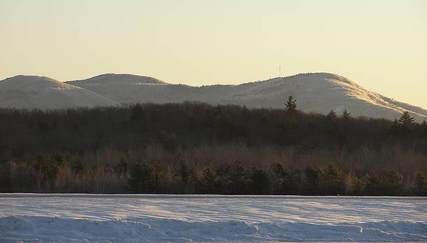 Icy Winter Morning in Maine by Dawn Hagar