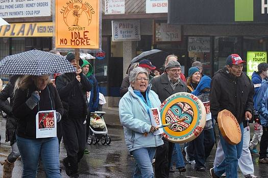 Idle No More Mission British Columbia by Ed Nicholles