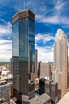 IDS and Wells Fargo Towers by Lonnie Paulson