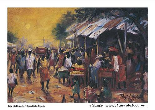 t'alejo -   'Ikija Night Market' by Deji Lewis