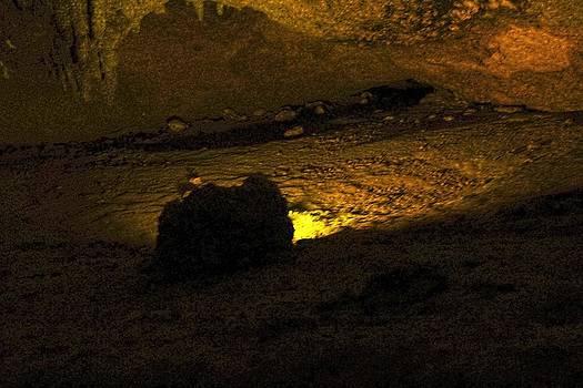 Illuminated Stalagmite by Sandra Pena de Ortiz