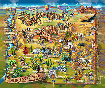 Maria Rabinky - Illustrated Map of Arizona