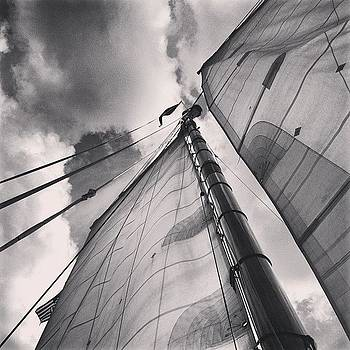 #imonaboat #sailboat #blackandwhite by Matthew Tarro
