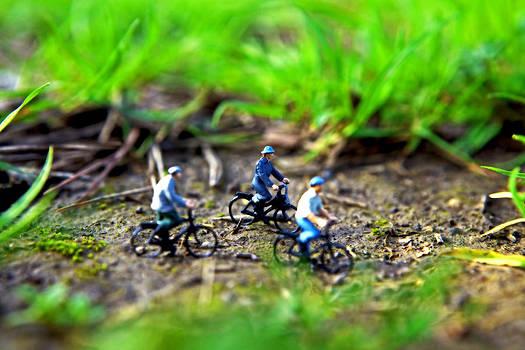 In bicicletta nel bosco incantato by Toni Polinni