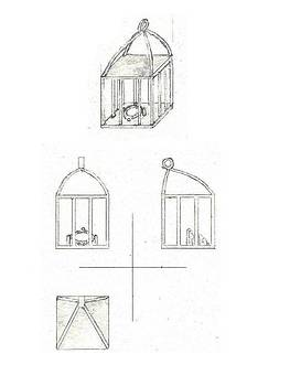 In Cage Pendant by Giuliano Capogrossi Colognesi