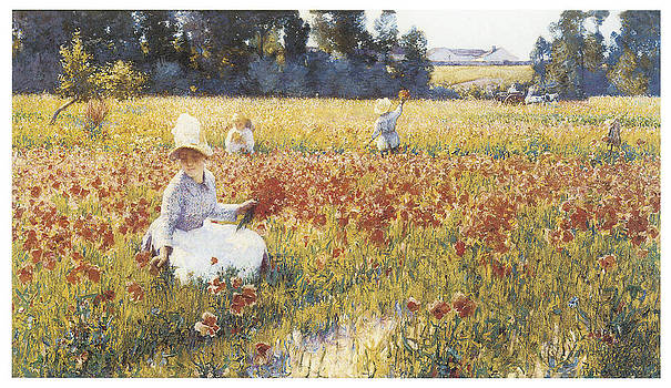 Robert Vonnoh - In Flanders Fiels Where Soldiers Sleep and Poppies Grow