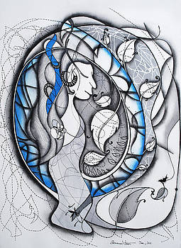 In memory of Blue Woman by Zuzana Vass