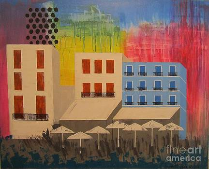 In the City by Christal Kaple Art