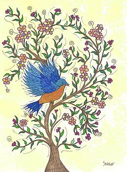 In The Garden - Bluebird by Susie WEBER