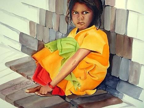 In the lap of bricks  by Shagufta Mehdi