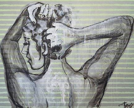 In The Shower 2- Portrait of a Woman by Carmen Tyrrell