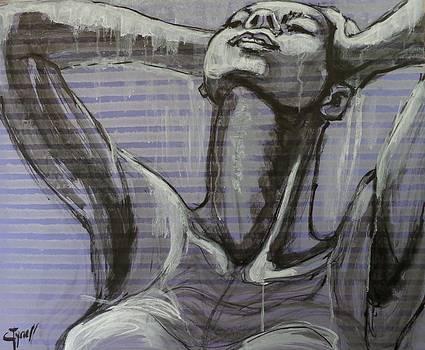 In The Shower - Portrait of a Woman by Carmen Tyrrell